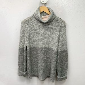 PHILOSOPHY Two Toned Turtleneck Sweater M NWT
